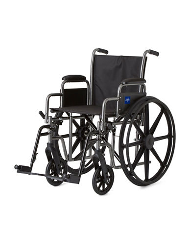 Medline Adult K1 Basic Hybrid Wheelchair-BLACK-One Size
