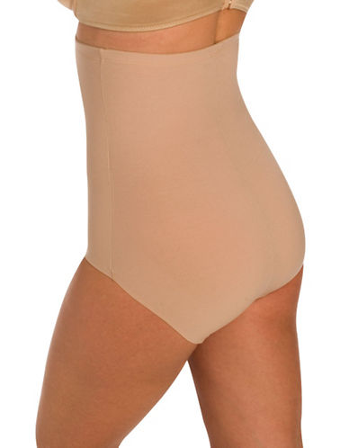 Naomi And Nicole Hi Waist Firm Control Brief With Wonderful Edge-BEIGE-X-Large