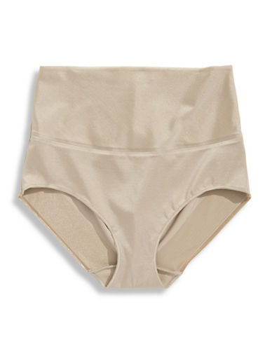 Naomi And Nicole Amazing Light Adjustable Rise Briefs-BEIGE-X-Large