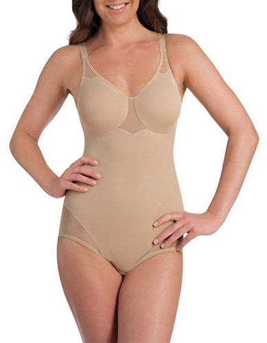 Miraclesuit Sexy Sheer Shaping Bodybriefer-BEIGE-38B