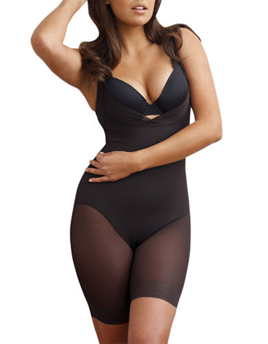 Miraclesuit Sexy Sheer Shaping Singlette-BLACK-Large