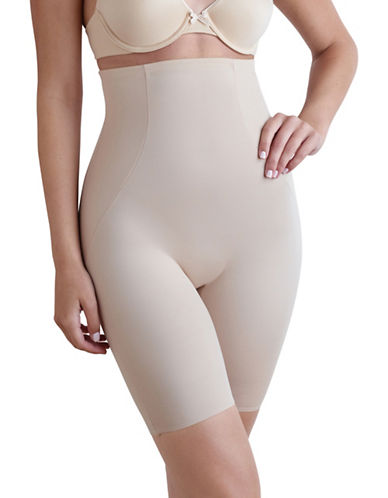 Naomi And Nicole High Waist Long Leg Shaper-BEIGE-Large