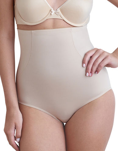 Naomi And Nicole Wonderful Edge Hi-Waist Briefs-BEIGE-X-Large