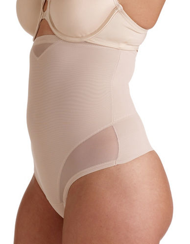 Miraclesuit Sheer High-Waist Thong-BEIGE-Large