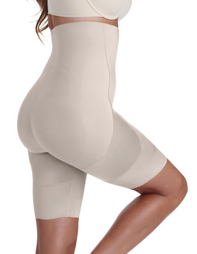 Miraclesuit Rear Lift and Thigh Slimmer-BEIGE-Small