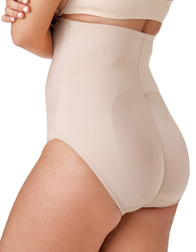 Naomi And Nicole Lift and Shape High-Waist Briefs-BEIGE-Small