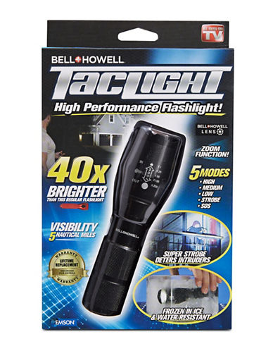 As Seen On Tv Tac Light High Performance Flashlight-BLACK-One Size