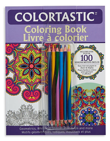 As Seen On Tv Colortastic Colouring Book-PURPLE-One Size