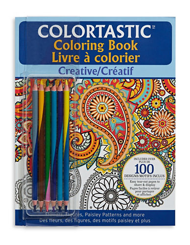 As Seen On Tv Colortastic Creative Colouring Book-BLUE-One Size