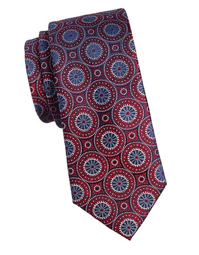 Black Brown 1826 Vintage 1826 Silk Tie-RED-One Size