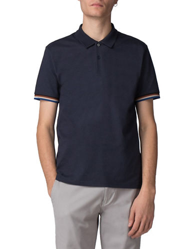 Ben Sherman Sharp Textured Knit Polo-BLUE-X-Large