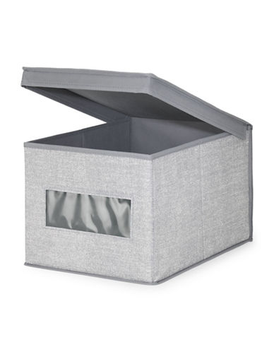 Interdesign Inc Aldo Organizer Box-GREY-One Size