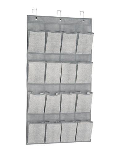 Interdesign Inc Aldo Over The Door Organizer Storage-GREY-One Size