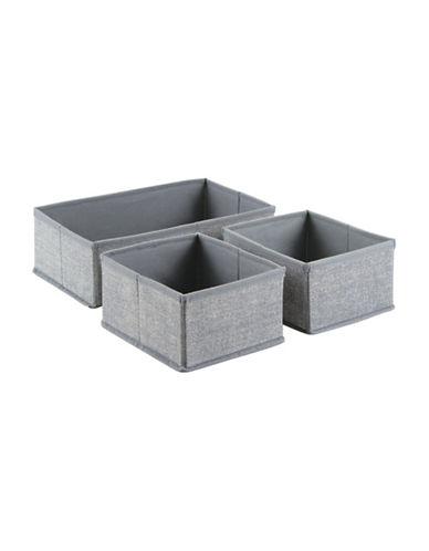 Interdesign Inc Aldo Set of Three Dresser Drawer-GREY-One Size