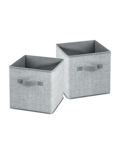 Interdesign Inc Aldo Set of Two Cube Organizer-GREY-One Size