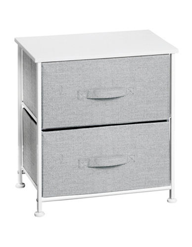 Interdesign Inc Aldo Two-Drawer Fabric Storage Unit-GREY-One Size