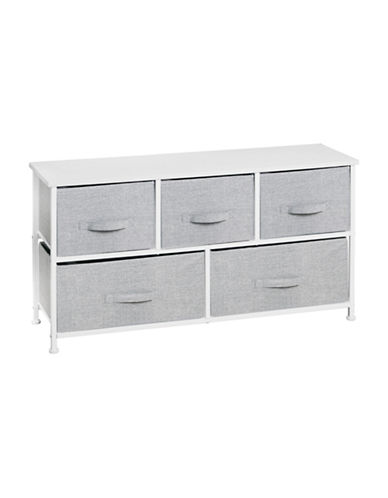 Interdesign Inc Aldo Five-Drawer Storage Unit-GREY-One Size