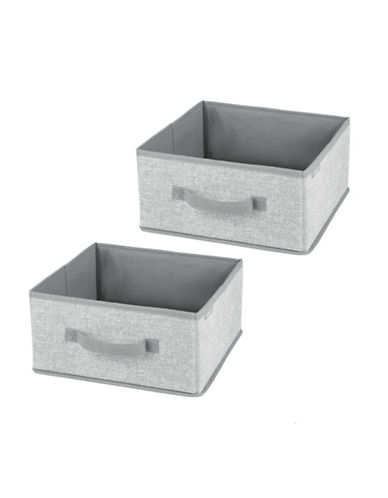 Interdesign Inc Aldo Set of Two Half Cube Organizer-GREY-One Size