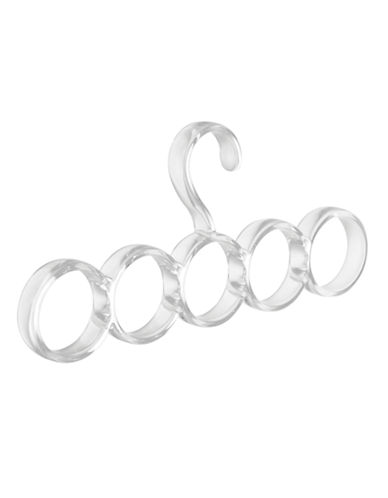Interdesign Inc Clarity 5 Loop Scarf Holder-CLEAR-One Size