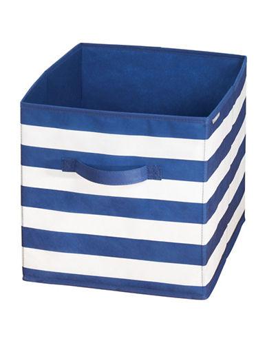 Interdesign Inc ID Jr Striped Organizer Storage-NAVY/WHITE-One Size