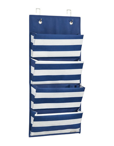 Interdesign Inc ID Jr Striped Hanging Organizer-NAVY/WHITE-One Size