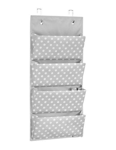 Interdesign Inc ID Jr Polka Dot Hanging organizer-GREY/WHITE-One Size