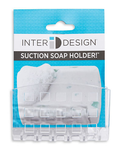 Interdesign Inc Suction Soap Holder-CLEAR-One Size