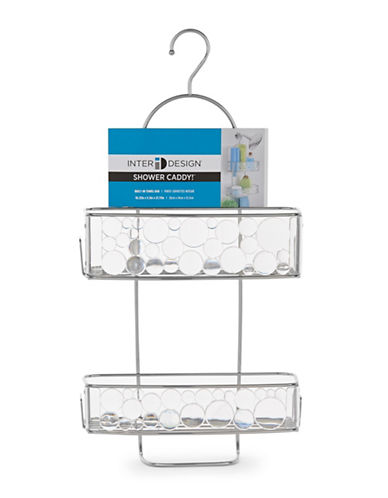Interdesign Inc Shower Caddy with Towel Bar-CLEAR/SILVER-One Size