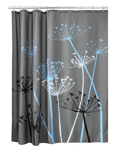 Interdesign Inc Thistle Shower Curtain-BLUE-One Size