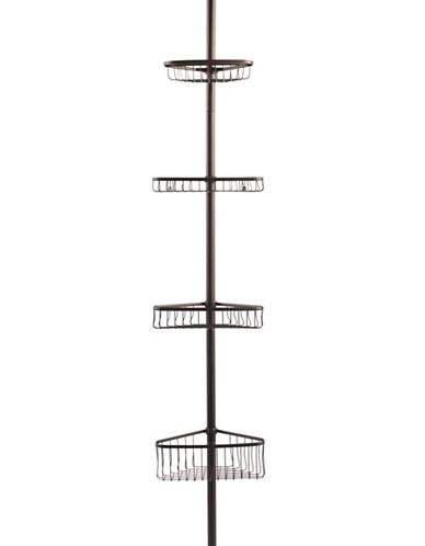 Interdesign Inc Bronze Four-Tier Tension Pole Caddy-BRONZE-One Size
