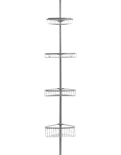 Interdesign Inc Bronze Four-Tier Tension Pole Caddy-SILVER-One Size