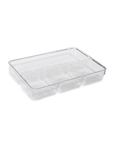 Interdesign Inc Four-Compartment Divided Tray-WHITE-Small