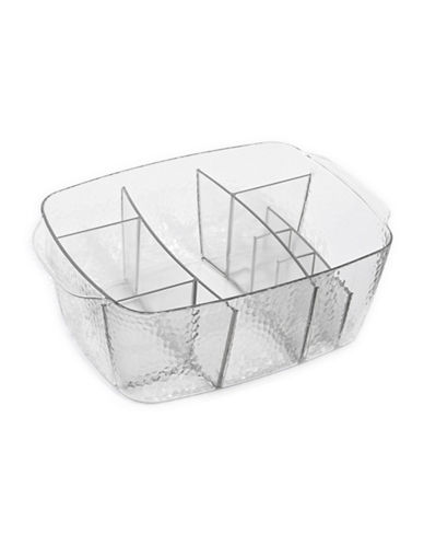 Interdesign Inc Ten-Compartment Cosmetics Tray-CLEAR-One Size