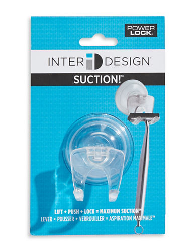 Interdesign Inc Suction Razor Hook-CLEAR-One Size