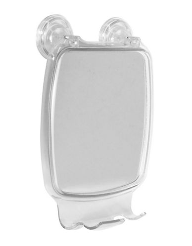 Interdesign Inc Fog-Resistant Suction Mirror-SILVER-One Size