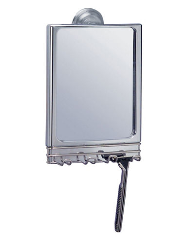 Interdesign Inc Lineo Stainless Steel Power Lock Mirror-SILVER-One Size
