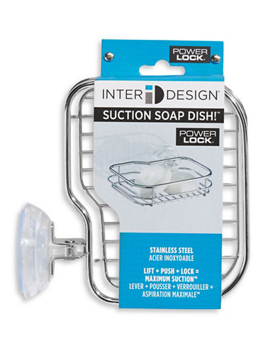Interdesign Inc Suction Soap Dish-SILVER-One Size 63414429_SILVER_One Size