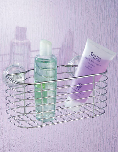 Interdesign Inc Power Lock Suction Shower Basket-SILVER-One Size