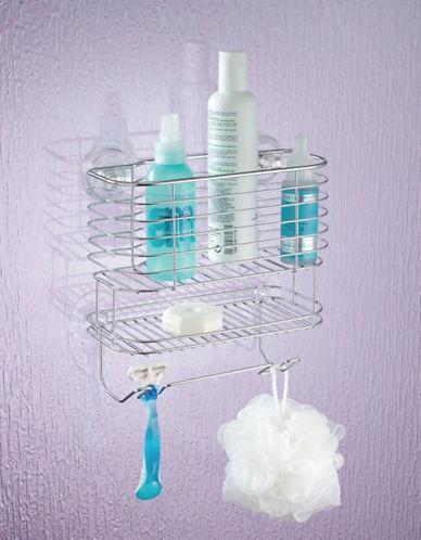 Interdesign Inc Power Lock Suction Shower Shelf-SILVER-One Size