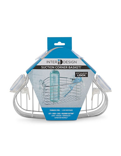 Interdesign Inc Suction Corner Shower Basket 63416333