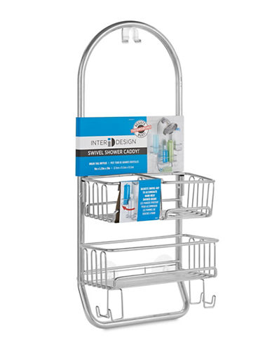 Interdesign Inc Swivel Shower Caddy-SILVER-One Size