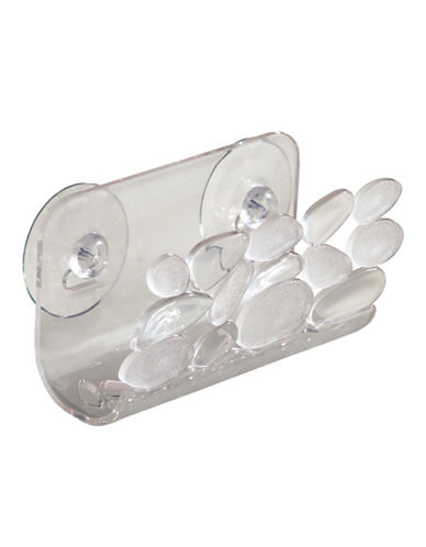 Interdesign Inc Pebblz Suction Sink Cradle-CLEAR-One Size