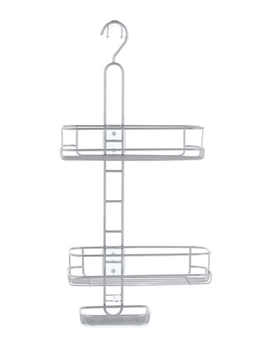 Interdesign Inc Adjustable Shelves Shower Caddy-SILVER-One Size