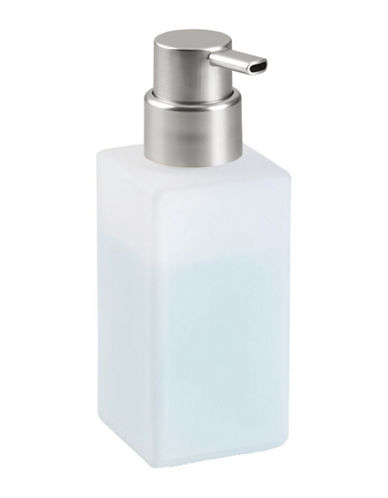 Interdesign Inc Casilla Modern Foaming Soap Dispenser-SILVER/WHITE-One Size
