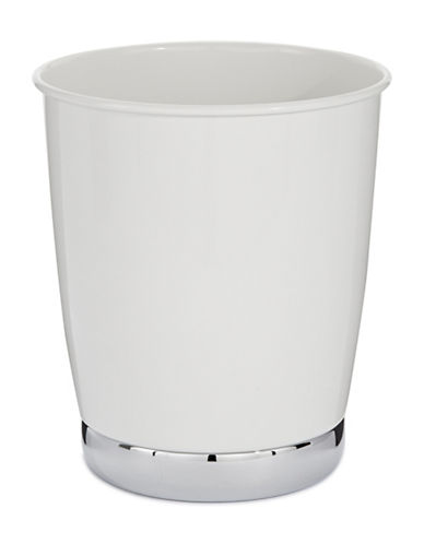 Interdesign Inc York Waste Basket-WHITE-One Size