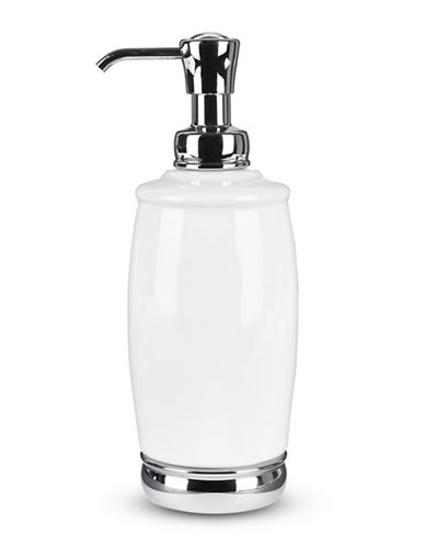 Interdesign Inc York Tall Lotion Pump-WHITE-One Size