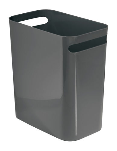 Interdesign Inc Una Plastic Waste Can-SLATE-One Size