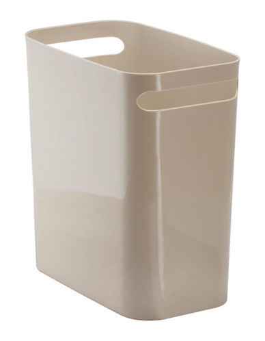 Interdesign Inc Una Plastic Waste Can-TAUPE-One Size