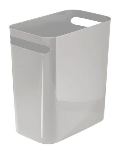Interdesign Inc Una Plastic Waste Can-GRAY-One Size