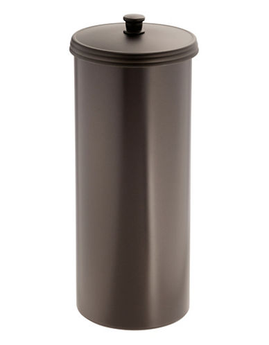 Interdesign Inc Toilet Tissue Reserve Canister-BRONZE-One Size